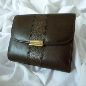 COACH Vintage Bridle Wallet Mahogany Leather